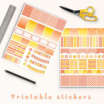 50% OFF Coral Stickers Printable Planner Stickers Erin Condren Filofax Box Stickers Page Flags Weekend Banners To Do Stickers Weekly Kit