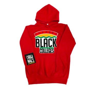 Originals Support Black Colleges Hoodies in Red