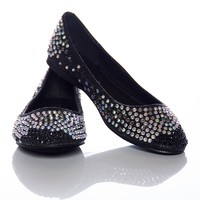 Twinkle Temptation Studded Ballet Flats - Black from Natures Breeze at Lucky 21