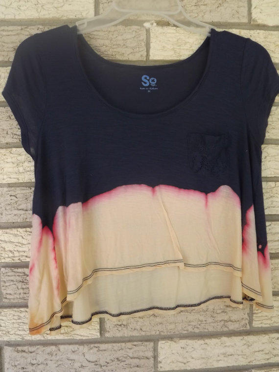 Unique, One-of-a-Kind, Bleached Cropped Top