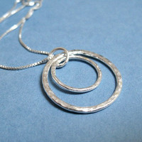 Sterling Silver Necklace Circle Pendant  Necklace by ZorroPlateado