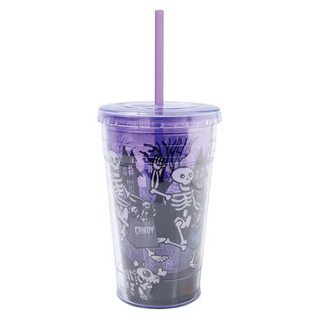 Straw Cup 18oz - Purple Glow in the Dark