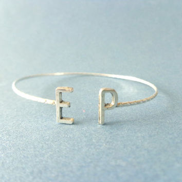 Initial personalized cuff bracelet wrap style