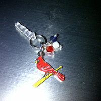 St. Louis Cardinals Cell Phone Dust Plug Charm
