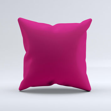 Solid Dark Pink V2  Ink-Fuzed Decorative Throw Pillow