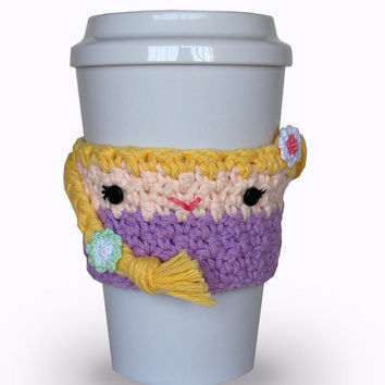 Crochet Rapunzel Coffee Cup Cozy