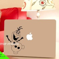 Apple Macbook Ipad Pro Air Decal Sticker Skin Sleeve-Frozen Snowman