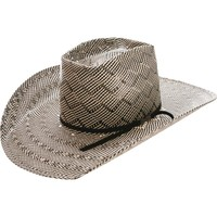 American Hat Co. Patchwork Crossbred Black/White Straw Hat