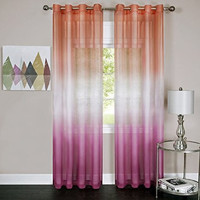 """Prisma Ombre Sheer Window Curtain Panel (52"""" x 84"""") - Pink"""