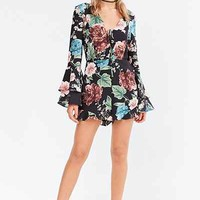 Bardot Amelia Floral Bell-Sleeve Romper - Urban Outfitters