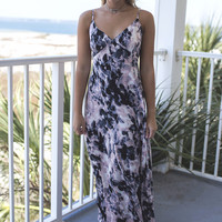 Summerland Purple and Black Floral Maxi Dress