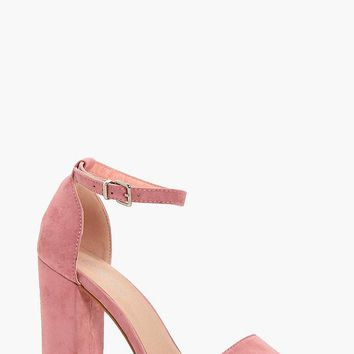 Lisa Wide Fit Platform Block Heels | Boohoo