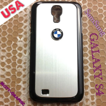 BMW Samsung Galaxy S4 Case BMW 3D metal Logo Premium Cover for S4 / i9500 - Silver