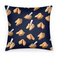 Fortune Cookie Pillow (Navy)