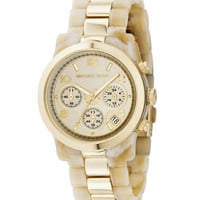 Michael Kors Two-Tone Jet Set Watch, Horn/Gold - Michael Kors