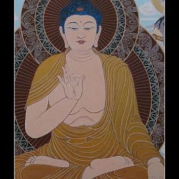 Buddha Elaborate INSPIRATIONAL POSTER 24X36 Peace Comes From Within Wisdom