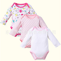 Baby Bodysuit 3 Pieces / Lot For Baby Girls Boys 100% Cotton Infant Clothing Short Sleeve Jumpsuit Printed Newborn Baby Clothes