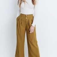 High Waisted Crop Pant