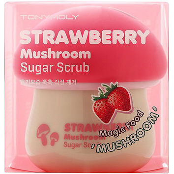 Tony Moly Strawberry Mushroom Sugar Scrub Magic Food