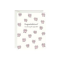 When Pigs Fly Congratulations Card