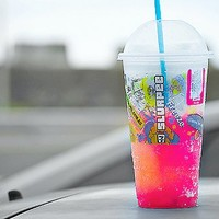 colors, drinks, pink, slurpee, summer - inspiring picture on Favim.com