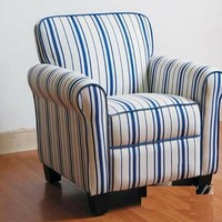A.M.B. Furniture & Design :: Childrens Furniture :: Chairs and Love Seats :: Kids Bell chair with striped fabric upholstery