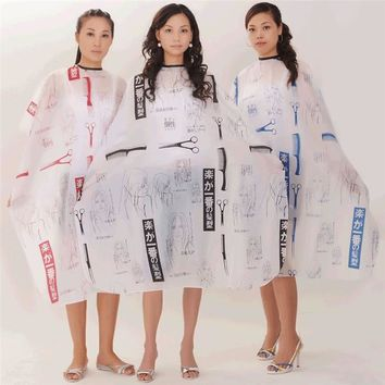 1pcs Random color Best New Sketch Hair Salon Cutting Barber Hairdressing Cape For Haircut Hairdresser Apron Cutting Hair Capes