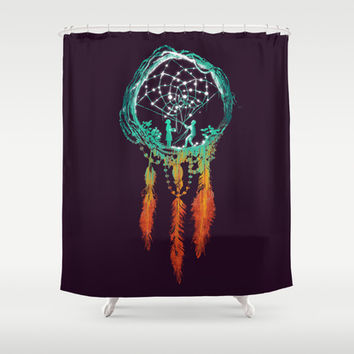 Dream Catcher (the rustic magic) Shower Curtain by Budi Satria Kwan