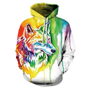 Painted Art Wolf Jacket