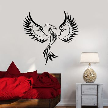 Vinyl Wall Decal Fantasy Phoenix Bird Abstract Ornament Stickers (3130ig)
