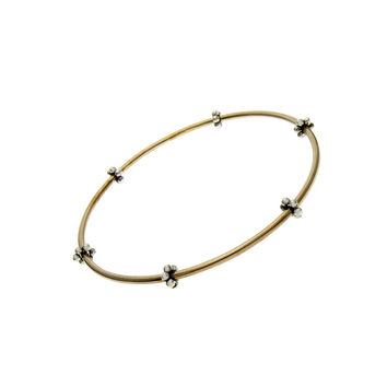 Elements Air Bronze Sterling Silver Bangle