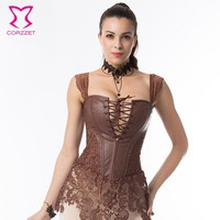S- 6XL Plus Size Corset Steampunk Clothing Waist slimming  Burlesque Lace Skirted Bustier Gotico Corsets Corpete E Corseletes