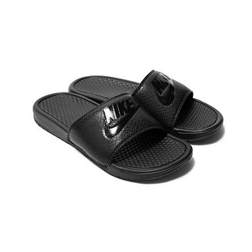 Nike Sportswear NSW Benassi JDI Just Do It Slide Mens Sandals Black/Black