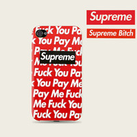 Fuck you pay me Supreme Plastic Hard Case - iphone 5 - iphone 4 - iphone 4s - Samsung S3 - Samsung S4 - Samsung Note 2