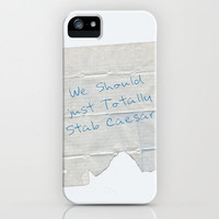 We Should Just Totally Stab Caesar! quote from the movie Mean Girls iPhone Case by AllieR