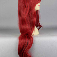 MCOSER 80cm THE LITTLE MERMAID ARIEL Curly wave red wig cosplay wig+a wig cap