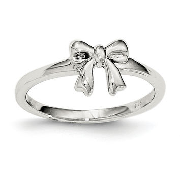 Sterling Silver Polished Bow Ring