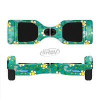 The Shades of Green Vector Flower-Bed Full-Body Skin Set for the Smart Drifting SuperCharged iiRov HoverBoard