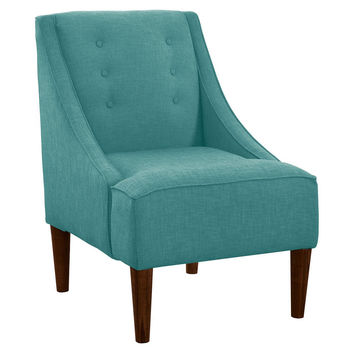 McCarthy Swoop-Arm Chair, Sea Blue, Accent & Occasional Chairs