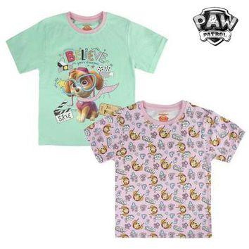Child's Short Sleeve T-Shirt The Paw Patrol 6893 Pink (size 3 years)