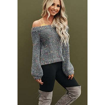 Shawn Speckled Sweater (Grey)