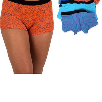 Sexy Women's 6 Pack Modern Active Boy Short Boxer Brief Panties