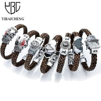 Anime Bracelet Wristbands Death Note Tokyo Ghoul One Piece Legend Of Zelda Assassin Creed Toys Figures For Children Kids Gifts