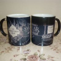 Dark Magic Harry Potter Color Changing Mischief managed Mugs