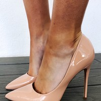 Pretty Woman Heels: Nude