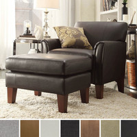 TRIBECCA HOME Uptown Modern Accent Chair and Ottoman | Overstock.com Shopping - The Best Deals on Living Room Chairs