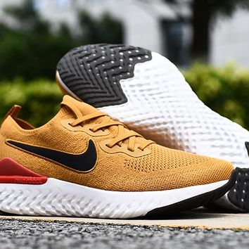 HCXX 19Aug 546 Nike Epic React Flyknit 2 Club Gold BQ8928-700 Mesh Sneaker Breathable Casual Running Shoes