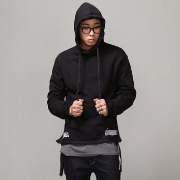 Mens String Knot Logo Printed Hoodie at Fabrixquare