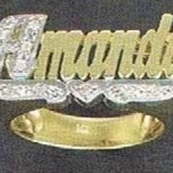 14k gold overly  any Name Rings letters personalized jewelry/gifts/a2