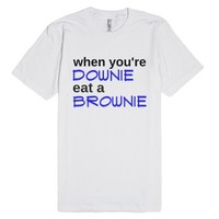 Eat A Brownie-Unisex White T-Shirt